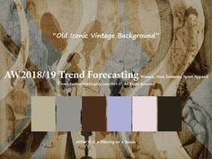 AW2018/2019 Trend Forecasting for Women, Men, Sport, Intimate Apparel - Old Iconic Vintage Background www.JudithNg.com