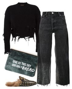 """Untitled #6549"" by stylistbyair ❤ liked on Polyvore featuring adidas Originals, RE/DONE and Gucci"