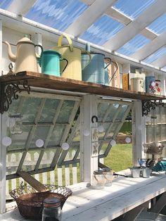 Backyard Greenhouse, Greenhouse Plans, Greenhouse Growing, Shed Playhouse, Shed Decor, Home Decor, Cottage Garden Design, She Sheds, Potting Sheds