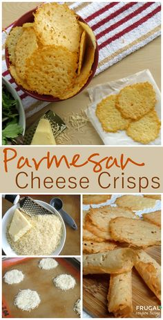Frugal Coupon Living's Homemade Parmesan Crisps - these go great with a salad. Makes 25-30 crisps. Pin to Pinterest.