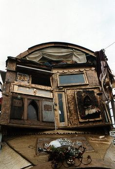 gypsy wagon: http://theblackapple.typepad.com/somegirlswander/2011/03/a-little-house-on-wheels.html