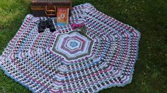 New Crochet Design, Garden Gate Crochet Afghan. Free Pattern.