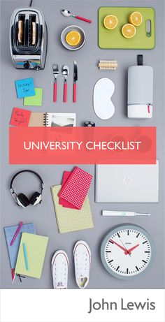 Discover our Off to University Checklist for everything a student needs for Freshers' Week and beyond.