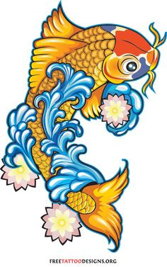 Koi Fish Tattoos Japanese And Chinese Designs