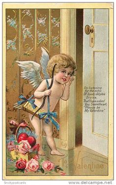 A wonderful Valentine cupid postcard...I haven't seen this one before...