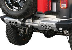 Jeep Accessory - Aries Off-Road Jeep Wrangler AlumaLite Rear Replacement Bumper - JK