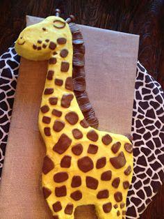Giraffe Cake we made for a baby shower!