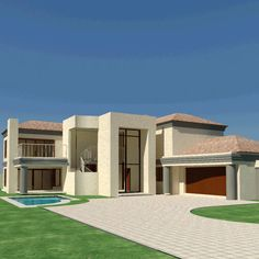 4 bedroom house plans in South Africa. Explore unique 4 bedroom house floor plans, 4 bedroom house plans with photos and double storey 4 bedroom house plans House Plan With Loft, Cottage Style House Plans, House Plans With Photos, Simple House Plans, Ranch House Plans, Craftsman House Plans, Dream House Plans, House Floor Plans, Dream Houses