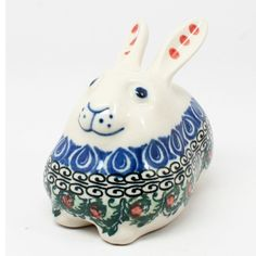 Polish Pottery Miniature Bunny Rabbit  number1624 -- More forbidden discounts at the link of image : Bakeware