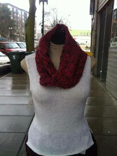 Knitted scarf by Golden Quince Designs for only $39! Mixed fiber, machine wash cool, dry flat.