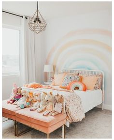 Bedroom Themes, Bedroom Decor, Decor Room, Bedroom Designs, Bedroom Wall, Bedroom Ideas, Wall Decor, Kids Interior, House Of Turquoise