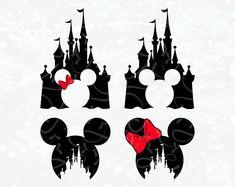 Disney Castle Circuit SVG - Disney Castle Silhouette - Disney Castle Shirt - Mickey Minnie Castle SVG - Mickey Mouse Head Disney Castle SVG