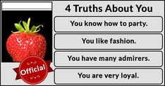 4 Facts About You!