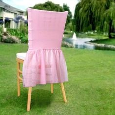 Wholesale Sheer Tulle Tutu Spandex Chair Skirt Cover for Wedding Birthday Party Event Decoration - PINK - ChairCoverFactory Tulle Table Runner, Tutu Table, Folding Chair Covers, Banquet Chair Covers, White Spandex, Spandex Chair Covers, Fru Fru, Chair Sashes, Slipcovers For Chairs