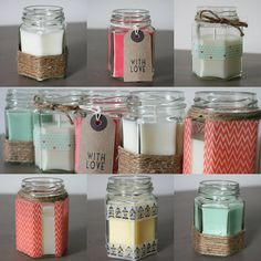 Beginners Candle Making Kit -- I just love the hexagonal jars.