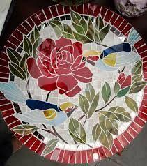 Resultado de imagen para mosaico de vidro pintado
