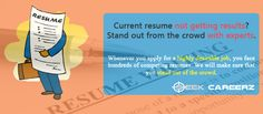 #Resume Writing at Seekcareerz is a premium service available to all candidates who wish to have their resumes professionally done. A resume is your profile through which almost everything about you is conveyed. The first impression of a candidate is created in a potential employer's mind through his resume. At #Seekcareerz we know what drives employers. With a precise understanding of corporate requirements we endeavour to create the ideal resume for our candidates.