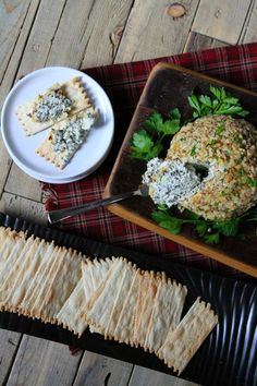 Blue Cheese Ball recipe - an easy appetizer recipe to serve at parties : from RecipeGirl.com