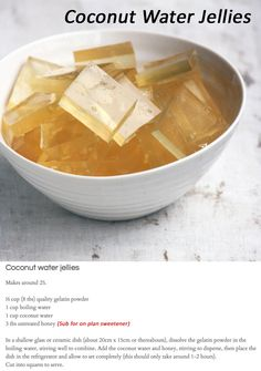 Coconut Water Jellies