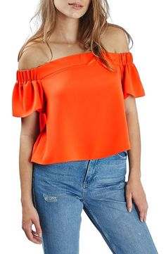 Topshop 'Livi' Off the Shoulder Top available at #Nordstrom