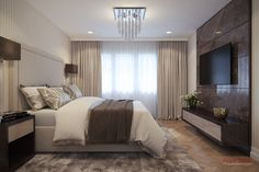 Luxusný byt, Praha Praha, Curtains, Live, Bed, Furniture, Home Decor, Insulated Curtains, Home Furnishings, Interior Design
