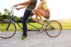"Tandem bicycling with your man....this could also fall under ""LOL""."