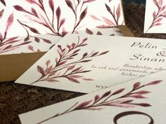 Red handmade invitation