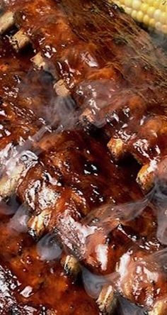 Coca-Cola BBQ Ribs ~ This is the ONLY rib recipe you will ever need. Sticky and . - Coca-Cola BBQ Ribs ~ This is the ONLY rib recipe you will ever need. Sticky and sweet. Braai Recipes, Rib Recipes, Cooking Recipes, Smoker Recipes, Cooking Tips, Barbecue Recipes, Recipies, Bbq Ribs, Pork Ribs