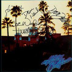 The Eagles Band Signed Hotel California Album