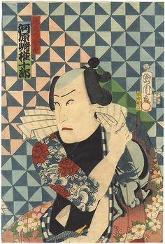 Kabuki Actor Kawarazaki Gonjuro as Kanda no Knkichi by Kunichika / 神田の金吉 河原崎権十郎 国周