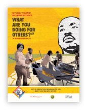Download Your Posters, Door Hangers and Fact Sheets Today!The Corporation has designed posters, videos and fact sheets to help promote the MLK Day of Service.Download the Following:MLK Day Poste