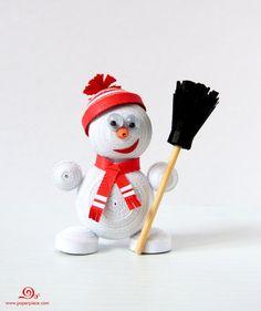 Snowman doll, snowman art, snowman gift, Christmas decor, Christmas gift, snowman decor - by: PaperPiece - Etsy