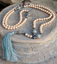 Beautiful Pearl Mala decorated with a tassel by look4treasures