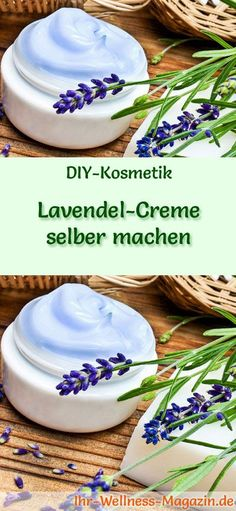 Make lavender cream yourself - recipe and instructions- Lavendel-Creme selber machen – Rezept und Anleitung DIY-Kosmetik-Rezept: Making lavender cream yourself – Moisturizing care for combination and oily skin it Yourself - Beauty Hacks Skincare, Diy Beauty, Deodorant, Crafts For Teens, Diy And Crafts, Deer Resistant Garden, Diy Skin Care, Natural Cosmetics, Hacks Diy