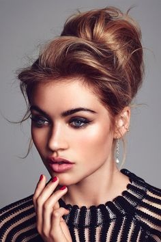 Beautiful hair and makeup