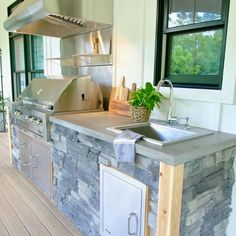 Outdoor Kitchen Grill, Outdoor Grill Station, Outdoor Sinks, Patio Grill, Diy Grill, Patio Kitchen, Outdoor Kitchen Design, Diy Kitchen Sinks, Outdoor Cooking