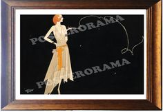 Where there's smoke there's Fire by Russel Patterson POSTER large 13 x 20 flapper Print on Etsy, $15.00