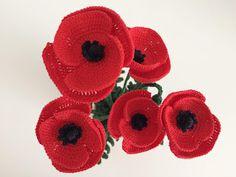 Il Blog di Sam: Spiegazione del Papavero all'uncinetto Crochet Poppy Pattern, Amigurumi Patterns, Crochet Flowers, Blog, Poppies, Crochet Earrings, Knitting, Kids, Crocheting