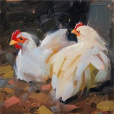 Carol Marine's Painting a Day: Shhhh, Someone's Looking!