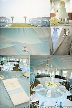 Looking for a subtle accent color for your wedding? Try Carolina Blue for a bit of color and a lot of sophistication. Neil GT Photography http://www.outerbanksweddingassoc.org/membersearch/memberpage.html?MID=1891=Photographers=16