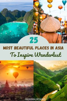 Get Inspired with this most beautiful places in Asia! #asia #traveldestinations #traveltips #bucketlisttravel #travelideas #travelguide #amazingdestinations #traveltheworld Bali Travel Guide, Asia Travel, Travel Guides, Travel Abroad, Travel Advice, Travel Tips, Cool Places To Visit, Places To Travel, Amazing Destinations