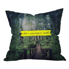 Leah Flores What a Wonderful World Pillow