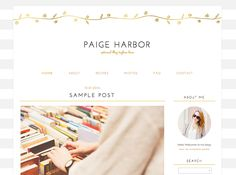 Paige Blogger Template