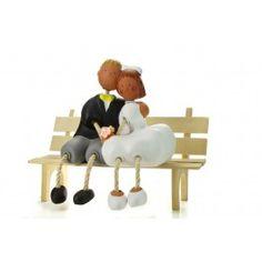 Figura de novios vintage para #bodas #cake topper #Wedding #vintage.