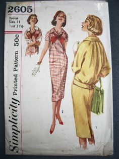 Vtg 1950s 60s Simplicity Shift Pencil Dress to Die by TheSewingDen, $12.50