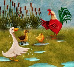 Illustrations for Spanish language phonics book Tito Y Pepito published by National Geographic Education in 2012