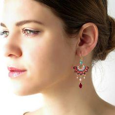 Colorful earrings Chandelier earring Summer earrings Boho