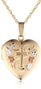 """14k Yellow Gold Filled Engraved Cross Heart Locket, 18""""  http://electmejewellery.com/jewelry/necklaces/lockets/14k-yellow-gold-filled-engraved-cross-heart-locket-18-com/"""