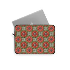 Laptop Sleeve with Retro Pattern – WavyBazaar