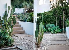 Escaleras cubiertas con madera para nivelar el jardín